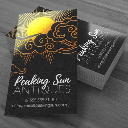 Metallic business cards full color foil cards uprinting metallic print business cards colourmoves